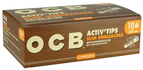 OCB ACTIV TIPS SLIM UNBL-7mm
