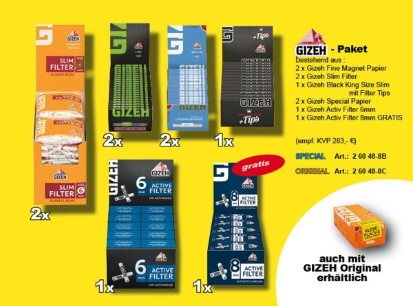GIZEH SPECIAL PAKET: