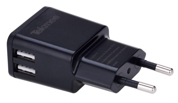 TEKMEE USB Netzstecker schwa