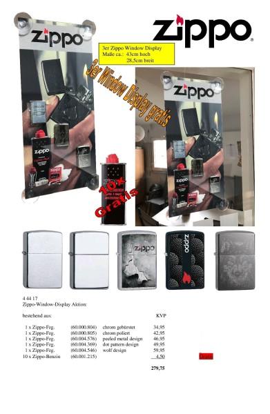 ZIPPO-WINDOW-DISPLAY-AKTION: