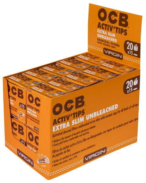 OCB ACTIV TIPS SLIM UNBL-6mm