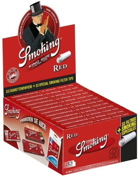 SMOKING RED + FILTER TIPS