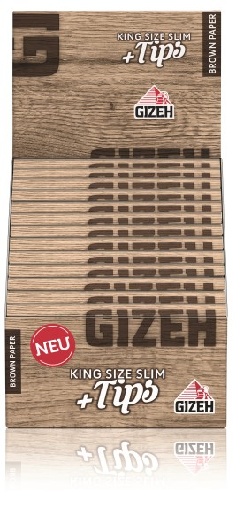 GIZEH BROWN KING SIZE + TIPS