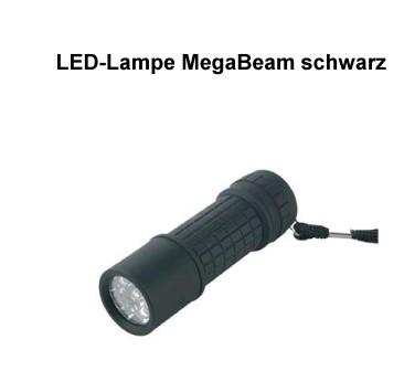 LED-Lampe MegaBeam schwarz