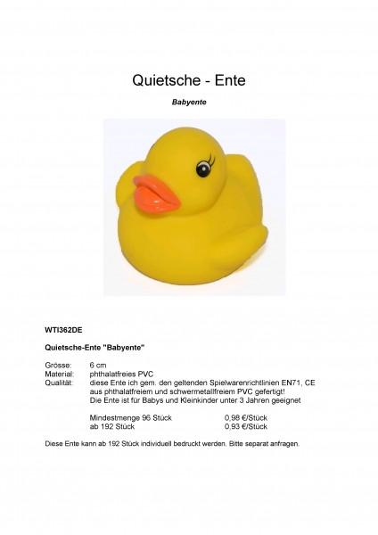 Quietsche-Ente Babyente