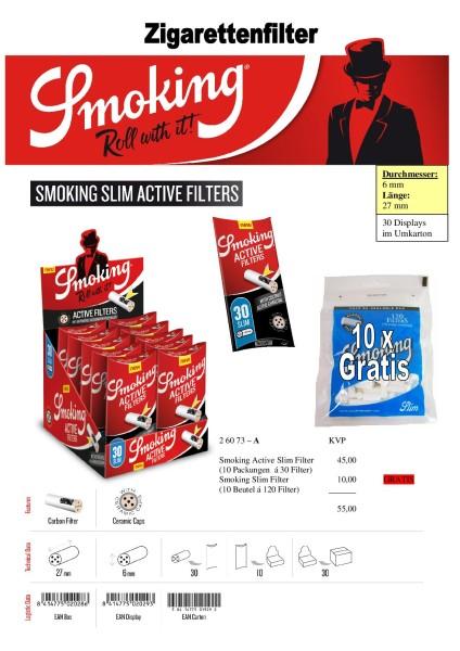 SMOKING SLIM FILTER AKTION